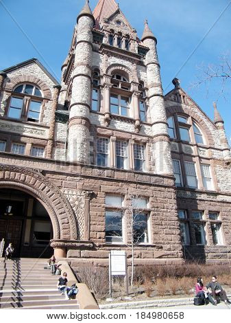 Toronto, Canada - March 18, 2010: Old Vic building at Victoria College of the University of Toronto