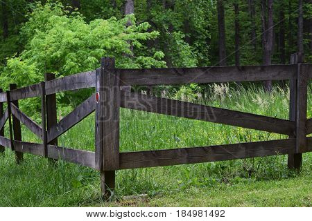 Fenced in pasture in a country setting
