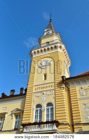 Kikinda town Serbia city hall tower landmark architecture