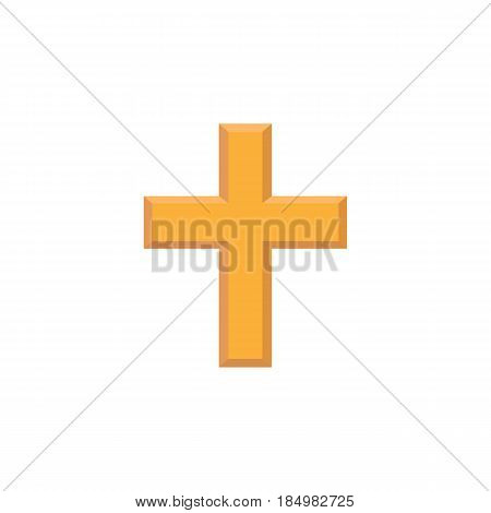 Religion cross flat icon, religion christianity, Religious sign, a colorful solid pattern on a white background, eps 10.