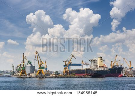 Industrial Seaport, Constanta, Romania