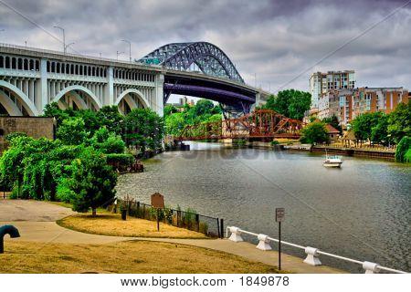Superior bridge and the Cuyahoga River