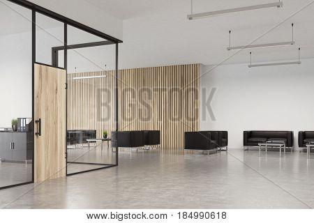 Glass Office Wooden Door, Lobby