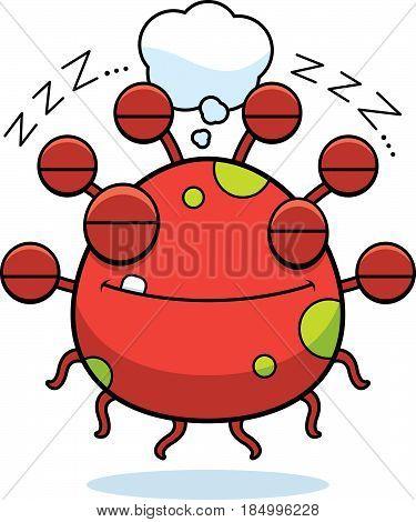 Cartoon Eyeball Monster Dreaming
