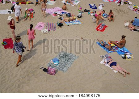Svetlogorsk, Russia: Sandy Beach On Coast Of Baltic Sea