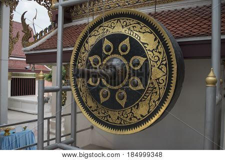 Thai native Gong. Ancient gong in Thailand