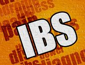 Modern medical concept: Ibs - Irritable Bowel Syndrome - on the Brickwall with Wordcloud Around . Yellow Brickwall with Ibs - Irritable Bowel Syndrome on the it . poster