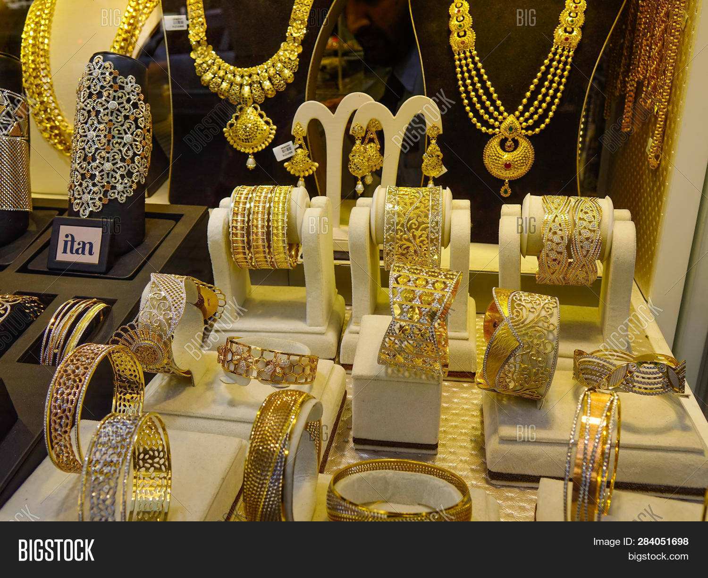 Gold Jewelry Display Image Photo Free Trial Bigstock