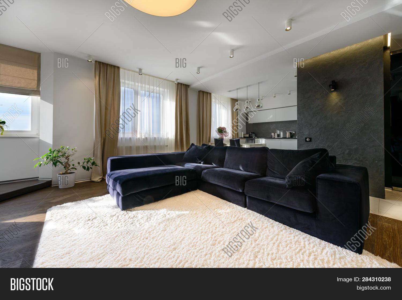 Living Room Large Sofa Image & Photo (Free Trial)   Bigstock