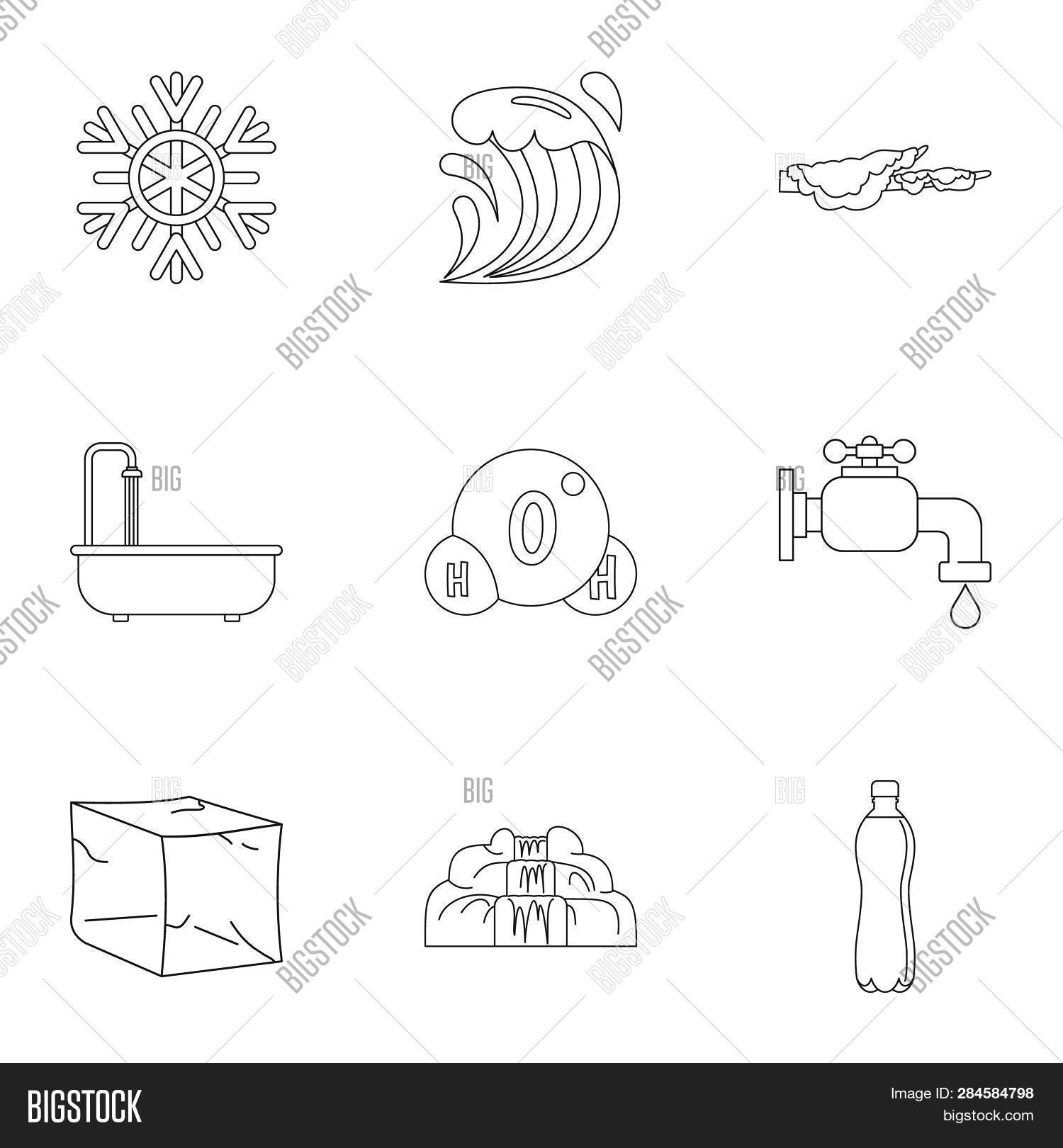 Pure Water Form Icon Image & Photo (Free Trial) | Bigstock