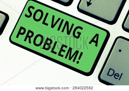 Conceptual Hand Writing Showing Solving A Problem. Business Photo Text Include Mathematical Or Syste
