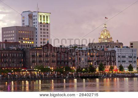 Savannah cityscape
