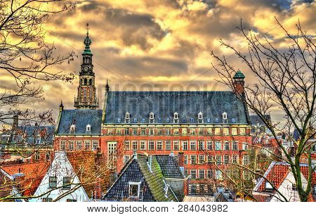 The Stadhuis, The Town Hall Of Leiden - South Holland, The Netherlands