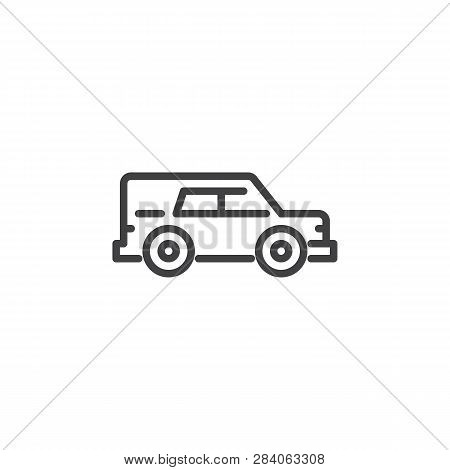 Hearse Car Line Icon. Linear Style Sign For Mobile Concept And Web Design. Funeral Hearse Car Outlin