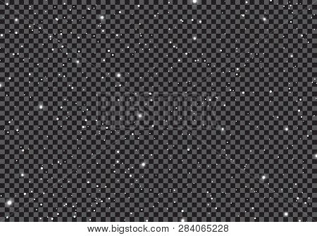 Space With Stars Universe Space Infinity And Starlight On Transparent Background. Starry Night Sky G