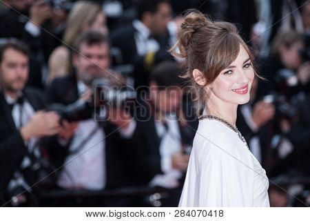CANNES, FRANCE - MAY 09: Louise Bourgoin attends the screening of Yomeddine during the 71st Cannes Film Festival on May 9, 2018 in Cannes, France.