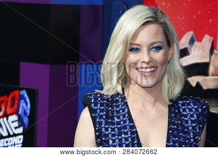 Elizabeth Banks at the Los Angeles premiere of 'The Lego Movie 2: The Second Part' held at the Regency Village Theatre in Westwood, USA on February 2, 2019.