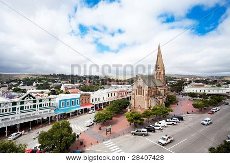 overhead view of Grahamstown, South Africa