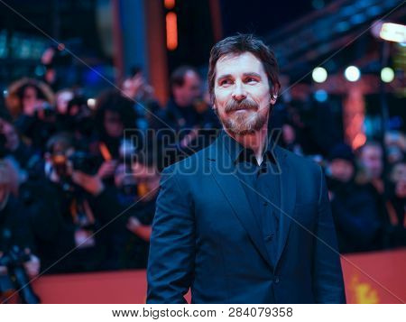 Christian Bale poses at the 'Vice' (Vice - Der zweite Mann) premiere during the 69th Berlinale International Film Festival Berlin at Berlinale Palace on February 11, 2019 in Berlin, Germany.