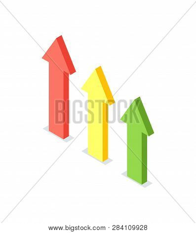 Arrow Raising Up, Financial Growth, Crowdfunding Concept. Business Progress, Financial Increase And
