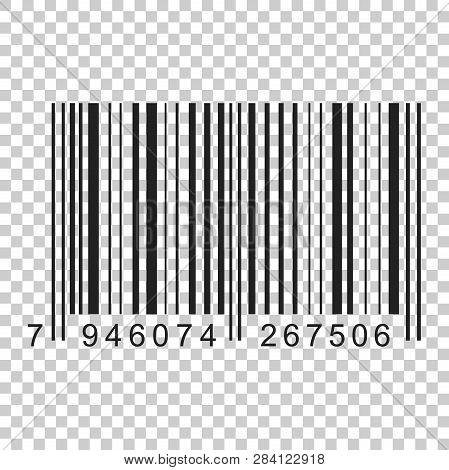 Barcode Product Distribution Icon. Vector Illustration On Isolated Transparent Background. Business