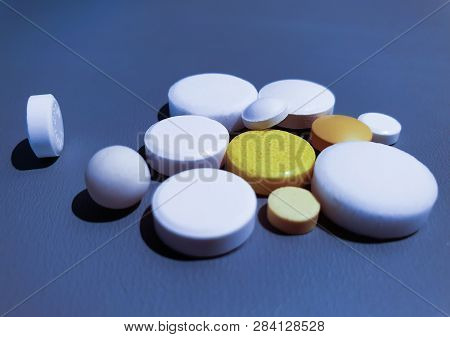 Close-up Medication Medical Drugs Close-up Pills  Close-up Medication. Pills Closeup.medical Drugs