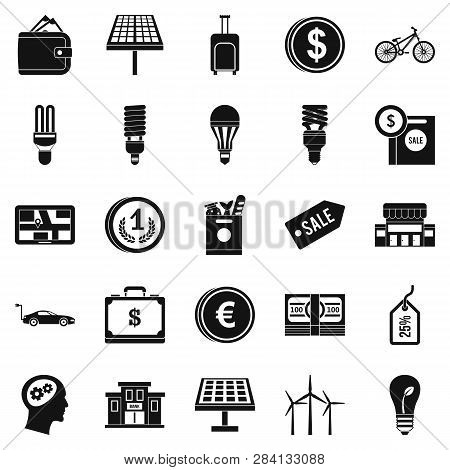 Monetary Relations Icons Set. Simple Set Of 25 Monetary Relations Icons For Web Isolated On White Ba