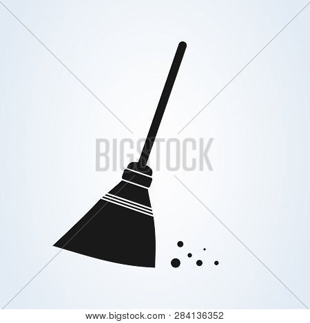 Sweeping Broom Vector Vector & Photo (Free Trial) | Bigstock