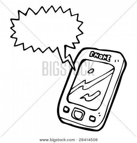 ringing mobile phone cartoon