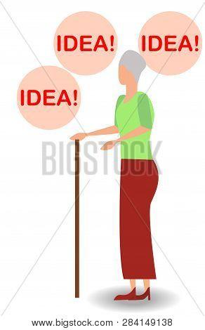 Vector Illustration Of Thinking Idea Or Solution Concept With Fast Thinking Solution And Idea Concep