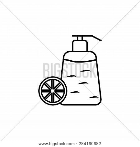 Fragrance Bottle Of Citric Fruit Outline Icon. Signs And Symbols Can Be Used For Web, Logo, Mobile A