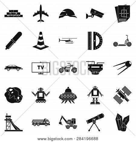 Tv Software Icons Set. Simple Set Of 25 Tv Software Icons For Web Isolated On White Background