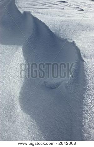 Wind-Blown Crest Of Snow