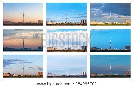 Collage From The One Skyline In Various Seasons