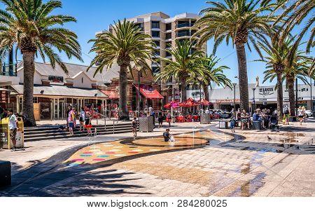 31st December 2018 , Glenelg Adelaide South Australia : Moseley Square View On Hot Sunny Summer Day