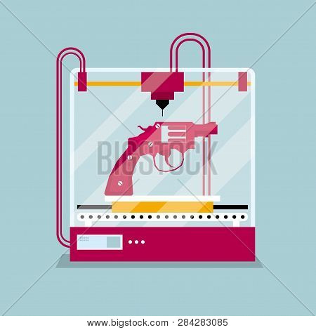 3d Printing A Revolver Model, The Concept Of Rapid Prototyping.