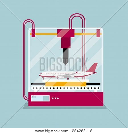 3d Printing A Passenger Aircraft Model, The Concept Of Rapid Prototyping.