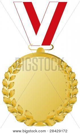 gold medal and polish ribbon