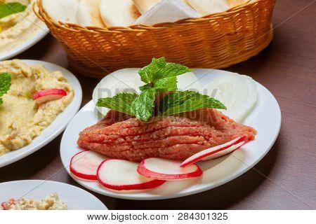 Raw Quibe, arabian cuisine poster