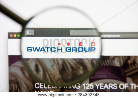 Los Angeles, California, Usa - 14 February 2019: Swatch Group Website Homepage. Swatch Group Logo Vi
