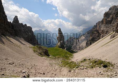 The Campanile Di Val Montanaia (2173 M), Italy