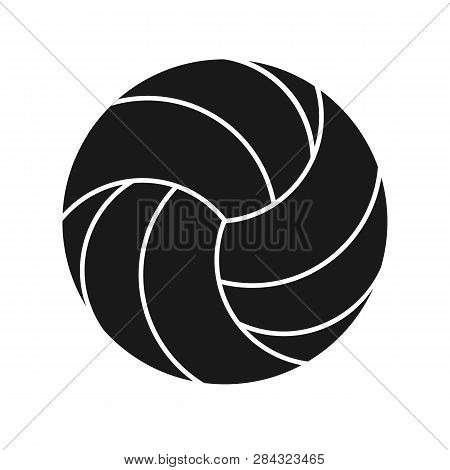 Volleyball Sport Icon Silhouette Isolated On White Background. Volleyball Logo Icon. Vector Stock.