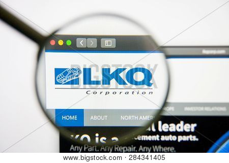 Los Angeles, California, Usa - 14 February 2019: Lkq Website Homepage. Lkq Logo Visible On Monitor S