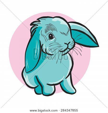 Rabbit Icon In Trendy Design Style. Rabbit Icon Isolated On White Background. Rabbit Vector Icon Sim