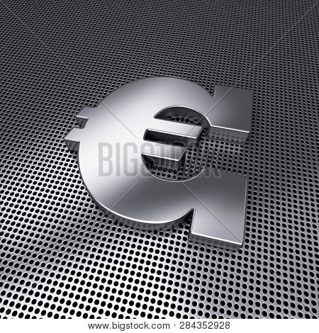 3d Metal Euro Symbolon Perforated Steel Ground