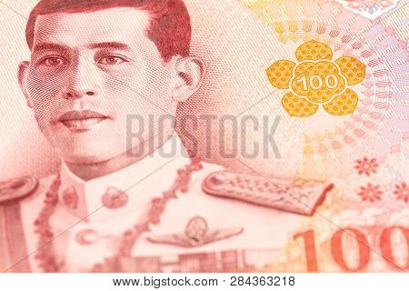 Detail Of A New 100 Thailand Baht Note