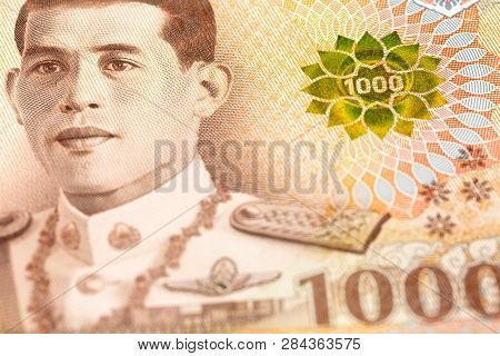Detail Of A New 1000 Thailand Baht Note
