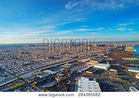Aerial View Of The City Of Philadelphia
