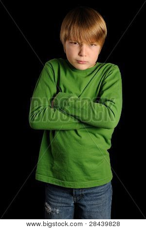 Pouting Young Boy - Head and Shoulders