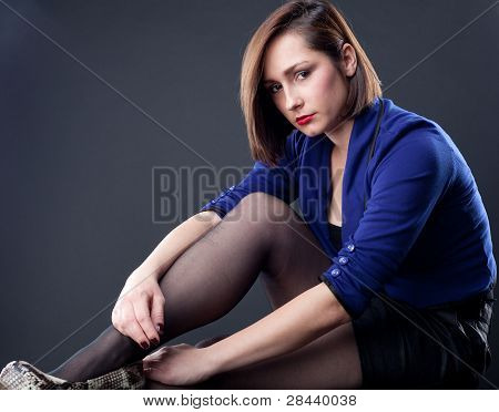 Sexy young woman in pantyhose